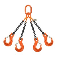 7mm 4 Leg Grade 80 Chain Sling c/w Sling Hook