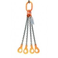 16mm 4 Leg Grade 80 Chain Sling c/w Self Locking Hook