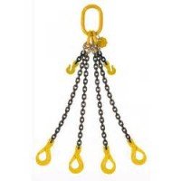 13mm 4 Leg Grade 80 Chain Sling c/w Self Locking Hook and Shortener